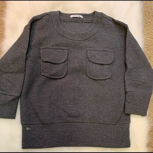 Gray Lacoste Sweater